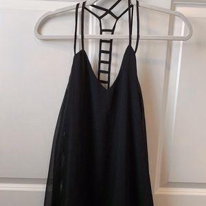 Black Strappy Double Zero Dress